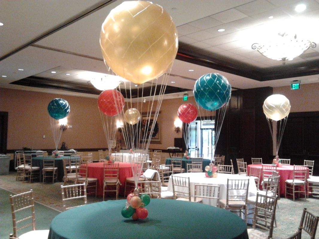 Balloon decorating palm beach balloon event decorating for Balloon decoration ideas no helium